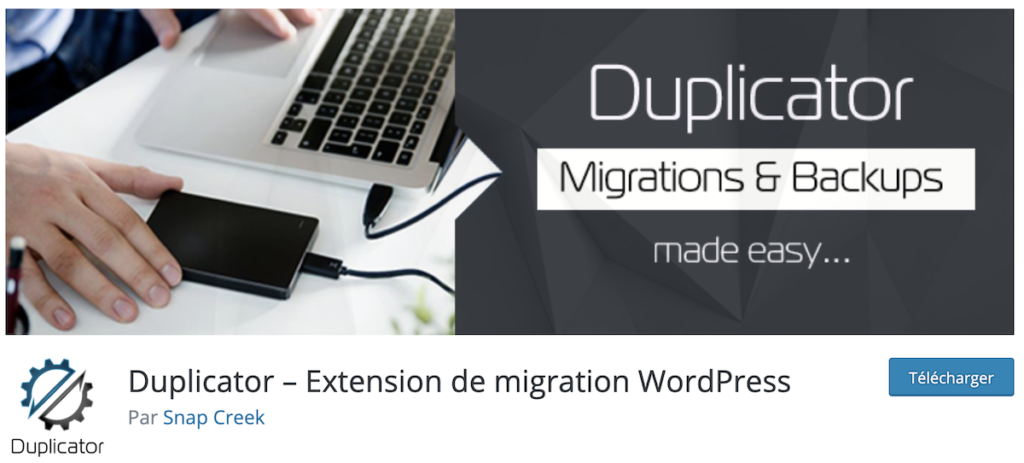 duplicator plugin sauvegarde wordpress