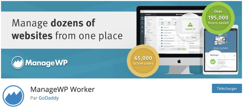manage wp plugin pour sauvegarder un site wordpress
